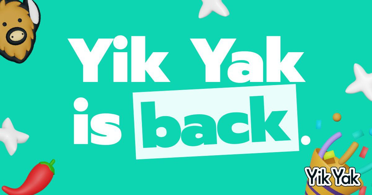 Local and anonymous social media app Yik Yak is back